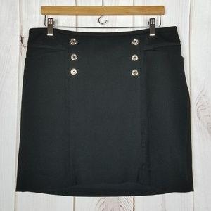 White House Black Market Black Skirt